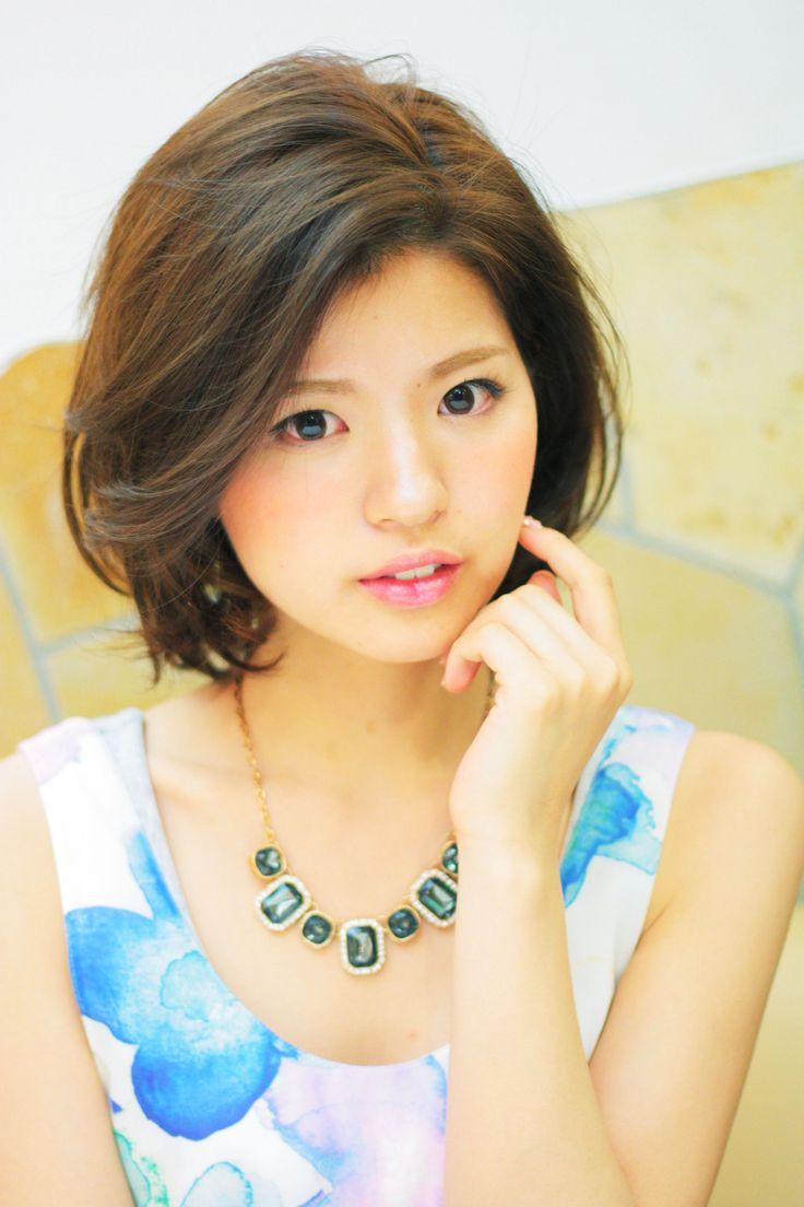 大人かわいい☆かきあげバングのフェミニンボブ - ヘアカタログ|シュワルツコフ オンライン