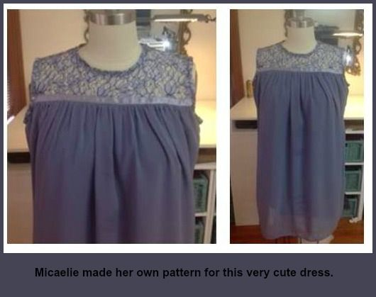 Micealie made her own pattern for this cute dress. Why not join a class and make your own designs just like Micaelie http://www.sewnsew.net.au/want-to-learn-to-sew/