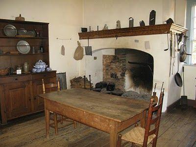 Colonial Kitchen. Veirling House, Old Salem, North Carolina Usa