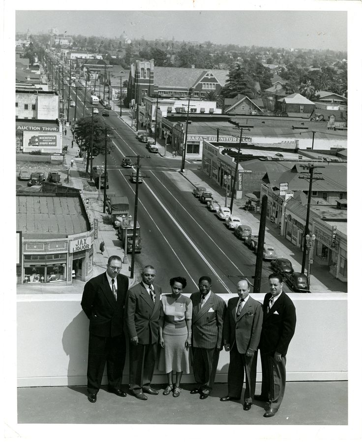 Golden state mutual life insurance executives on rooftop