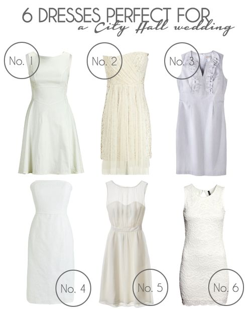 6 Dresses Perfect for a City Hall Wedding