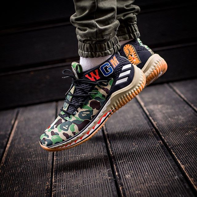 brand new c9f5c 565bf BAPE X ADIDAS DAME 4 15000 release 17 Febbraio  February sneakers76 in  store online H 00.01 PM adidasoriginals bape adidasoriginals adidas  bape dame ...