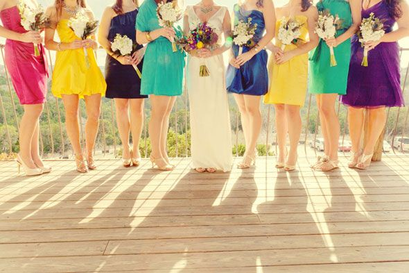 Bright Coloured Bridesmaid Dresses: 1000+ Ideas About Bright Color Wedding On Pinterest