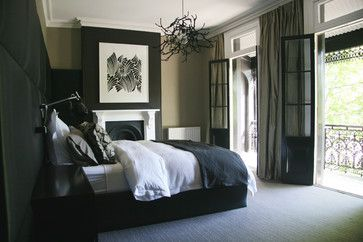 Paddington Terrace - contemporary - bedroom - sydney - darren palmer interiors. Beautiful room, just needs one splash of color. Great job though.