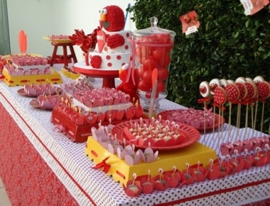 Cumpleaños infantil temático: Kids Parties, Party'S, Elmo Birthday, Kids Birthday Parties, Kidsbirthday, Parties Ideas, Parties Theme, Elmo Parties, Birthday Ideas