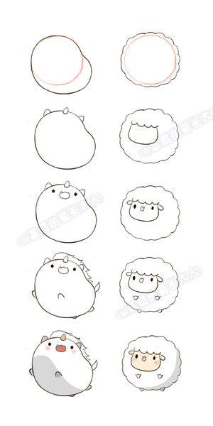 licorne + mouton | dessin rapide