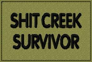 Funny Morale Patches | Shit Creek Survivor - OML Patches