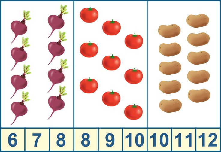 Игра с прищепками, тема «Овощи»