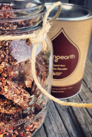 Loving Earth - Recipes - Raw Chocolate Energy Bars