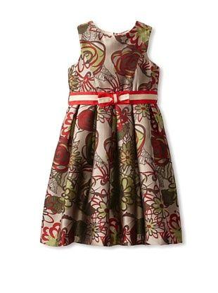 65% OFF US Angels Girl's Jacquard Tank Dress (Red Jaquard)