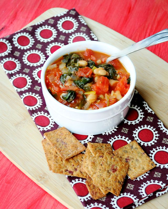 Easy White Bean & Spinach Soup ‹ Hello Healthy