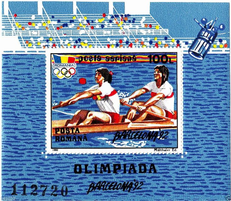 STAMP ROMANIA BLOCK 1992,MICHEL NR.274(90X78mm) BARCELONA 92,FREE SHIPPING!