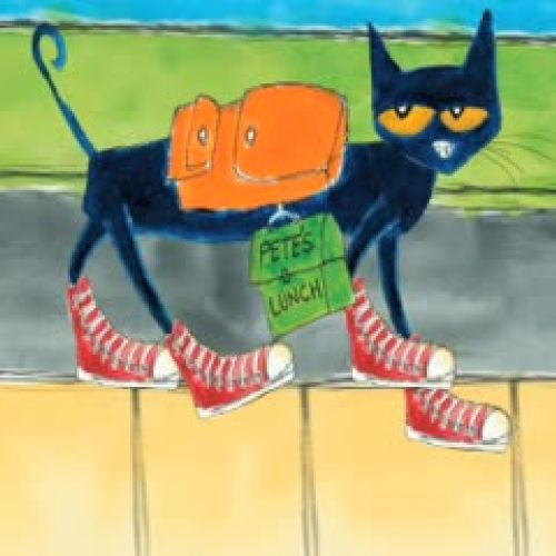 Pete The Cat Rocking In My School Shoes Coloring Page #4