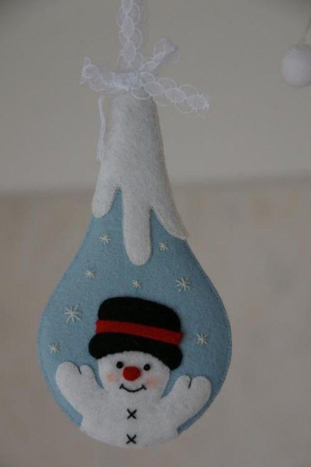 Uniquely shaped felt ornament