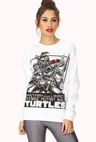 TMNT Comic Sweatshirt | FOREVER21 - 2000073846 #ForeverHoliday