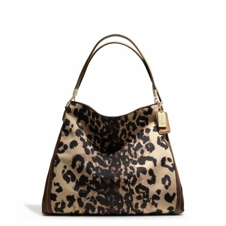 Coach Madison Phoebe Ocelot Fabric Shoulder Bag 39