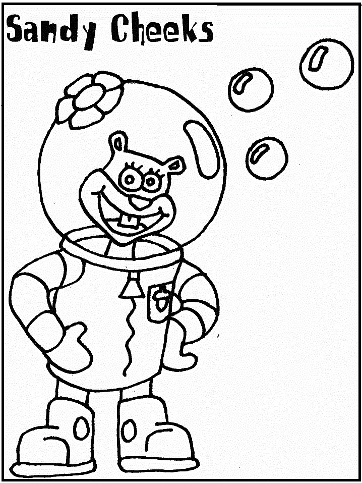 55 best spongebob squarepants images on pinterest for Sandy cheeks coloring pages