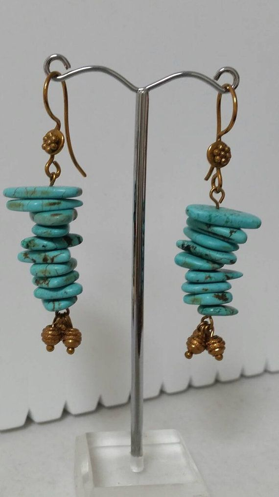 Check out this item in my Etsy shop https://www.etsy.com/uk/listing/271902362/turquoise-magnesite-earrings-with-bronze