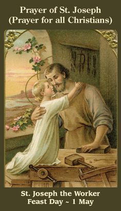 Joseph, patron saint of workers Blending skill with charity, Silent carpenter, we praise you! Joining work with honesty, You taught Christ with joy to labor Sharing his nobility.  Joseph, close to Christ and Mary, Lived with them in poverty, Shared with them their home and labor,  Worked with noble dignity. May we seek God's will as you did, Leader of his family!  Joseph, workmen's inspiration, Man of faith and charity, Make us honest, humble, faithful, Strong with Christ's t