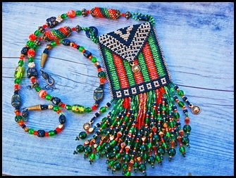 """Magic"" beaded medicine bag"