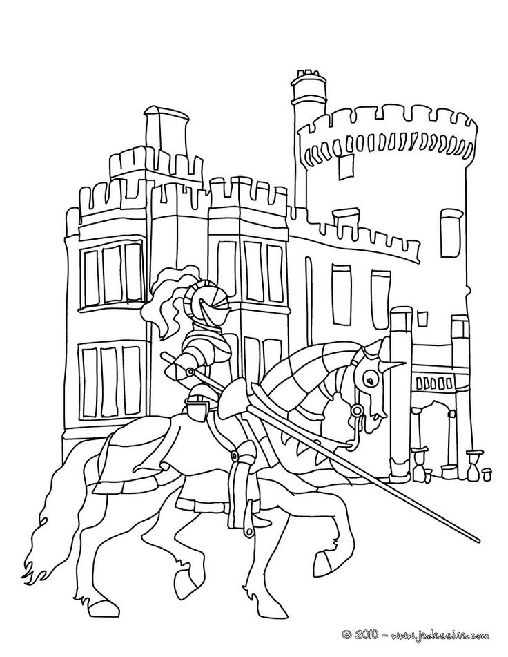 Charging knight color page fantasy medieval coloring pages, color - best of medieval alphabet coloring pages