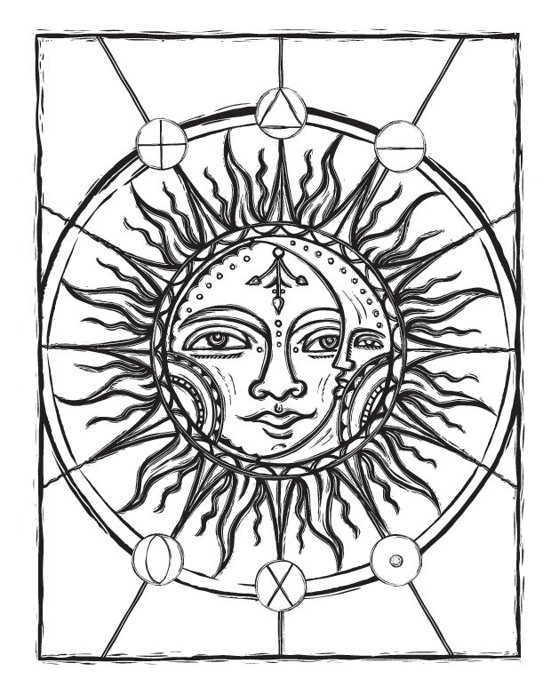 161 best images about sun moon and stars coloring on pinterest for Sun moon and stars coloring page
