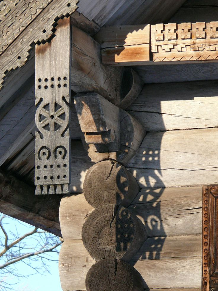 wooden house detail,Russia