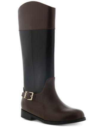 Michael Kors Little & Big Girls Emma Cash Riding Boots – Black Brown