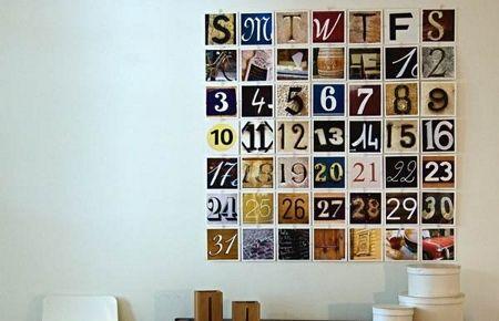 ¿Por qué no hacer un calendario como este? cada numero distinto al otro pero…