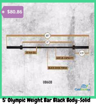 5' Olympic Weight Bar Black Body-Solid for more details visit http://coolsocialads.com/5--olympic-weight-bar-black-body-solid-10610