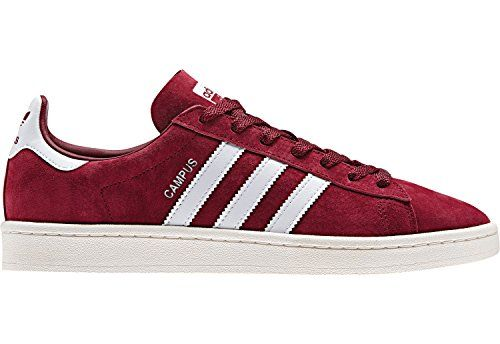 4800064056790 Adidas Originals Unisex Campus Unisex Burgundy Sneakers in Size 9 ...