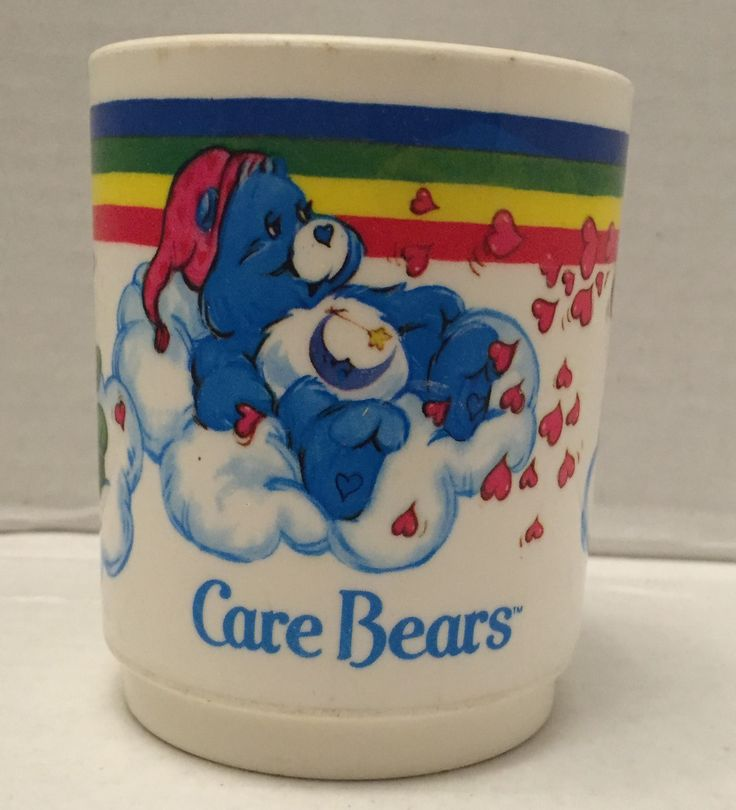 (TAS012875) - 1983 American Greetings Corp Care Bears Plastic Drinking Cup