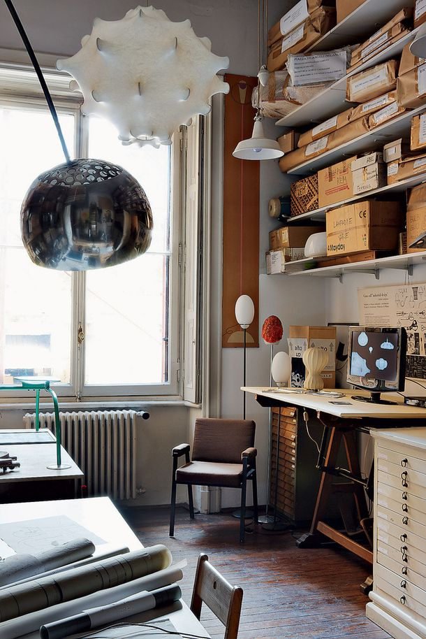 Work space   House-Museum Achille Castiglioni 2   Home office