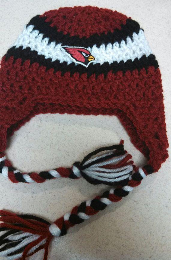 Crochet Arizona Cardinals NFL Team Spirit Beanie