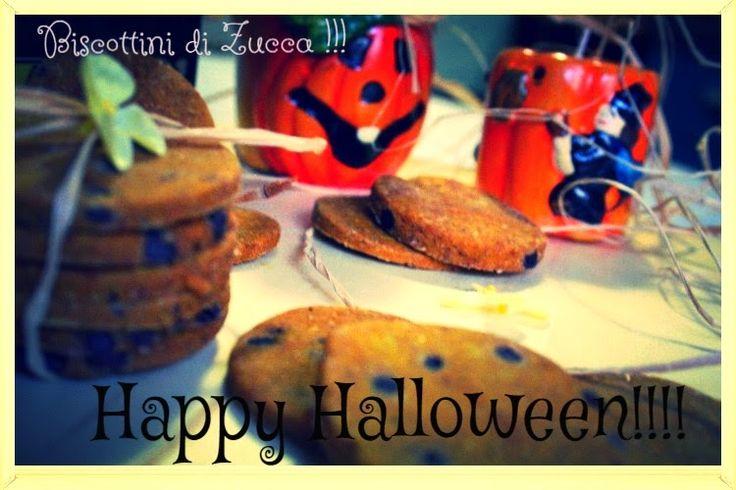 la cucina di jorgette: Biscottini di Zucca e goccine di cioccolato fonden...