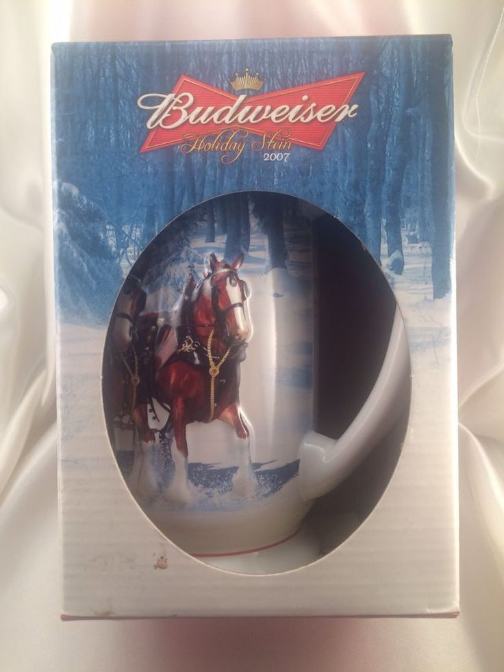 Budweiser Holiday Stein 2007 Winters Calm - New In Box - Perfect   Collectibles, Breweriana, Beer, Drinkware, Steins   eBay!