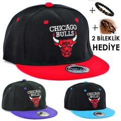 Çift Renkli Chicago Bulls Boğa Erkek Bayan Cap Şapka 3 Renk