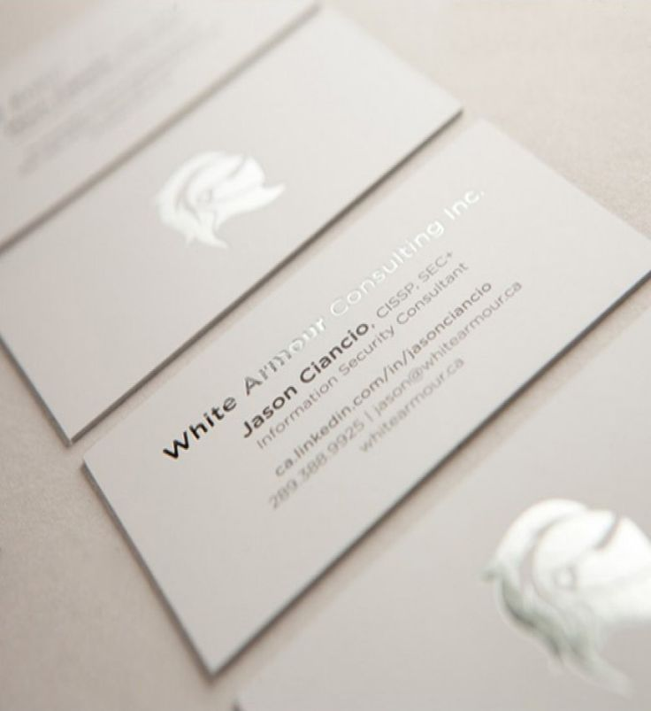 Print custom Foil business cards with Promo