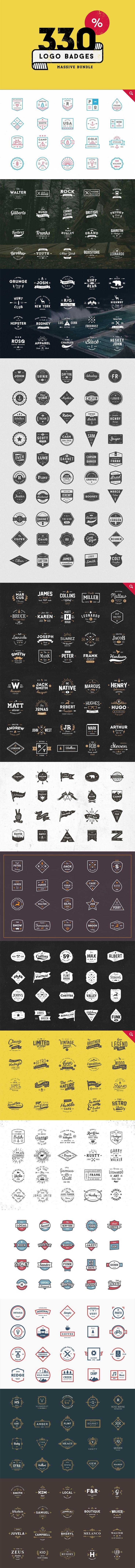 https://creativemarket.com/vuuuds/206973-330-Logos-Bundle