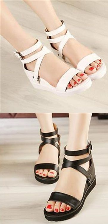 f82822417cd Are you planning to go on a beach holiday  Take this comfy sandals with wedge  heels! Click for more details.
