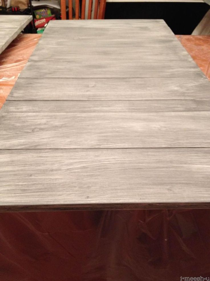 Annie Sloan graphite wash on wood - this is exactly what I'm doing to my drop leaf table!