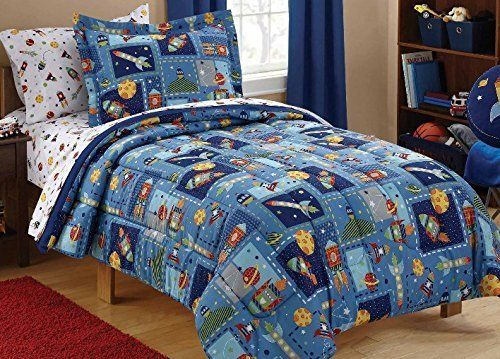 Mainstay Kids Outer Space Twin Sheet Set