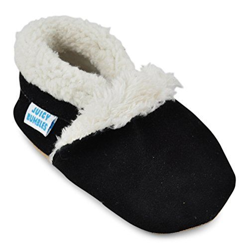 98ab81a2fb0 Juicy Bumbles Beautiful Soft Suede Baby Shoes   Slippers with Soft Soles -  Black - 6-12 Months - Price  (as of Jan 01