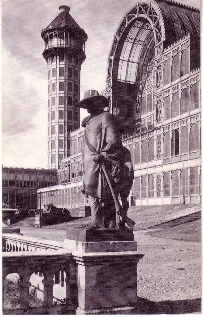 The Crystal Palace before it was destroyed by fire - if only I could go back in time to see it.