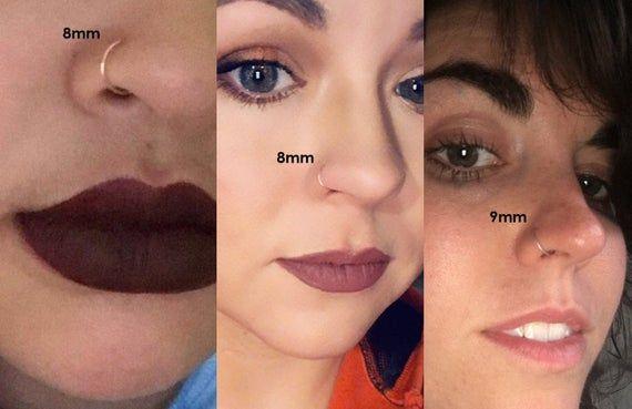 Nose Ring Nose Hoop Septum Ring Sterling Silver Gold Rose Gold Etsy Nose Piercing Hoop Nose Hoop Nose Piercing Jewelry