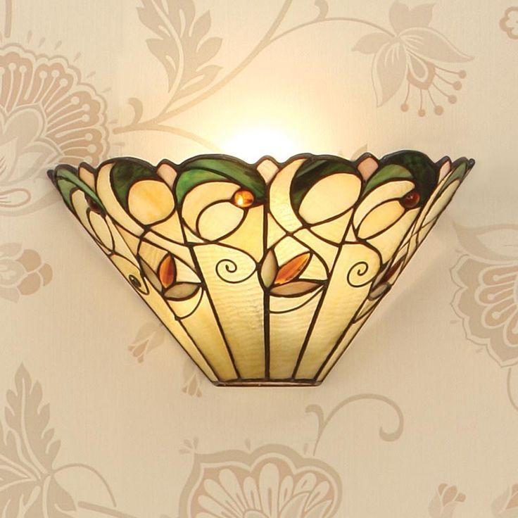 Applique Tiffany / Lampada da Parete Tiffany Autunnale con Fiori