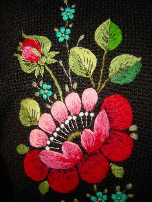 Hungarian Flower Embroidery