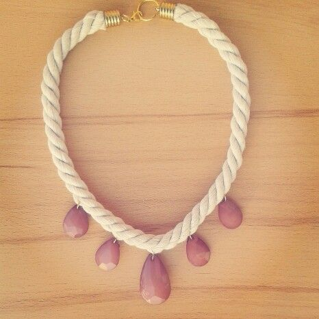 Summer is coming. . #handmade #necklace #vintage #rose #semiprecious #stones #fauxandprecious #summeredition