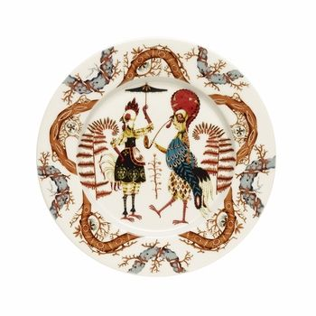 iittala Tanssi Salad Plate | Don't just set the table; tell a tale. Klaus Haapaniemi, the artist who brought us iittala Taika (Magic), now invites us into the whimsical world of Tanssi (Dance)