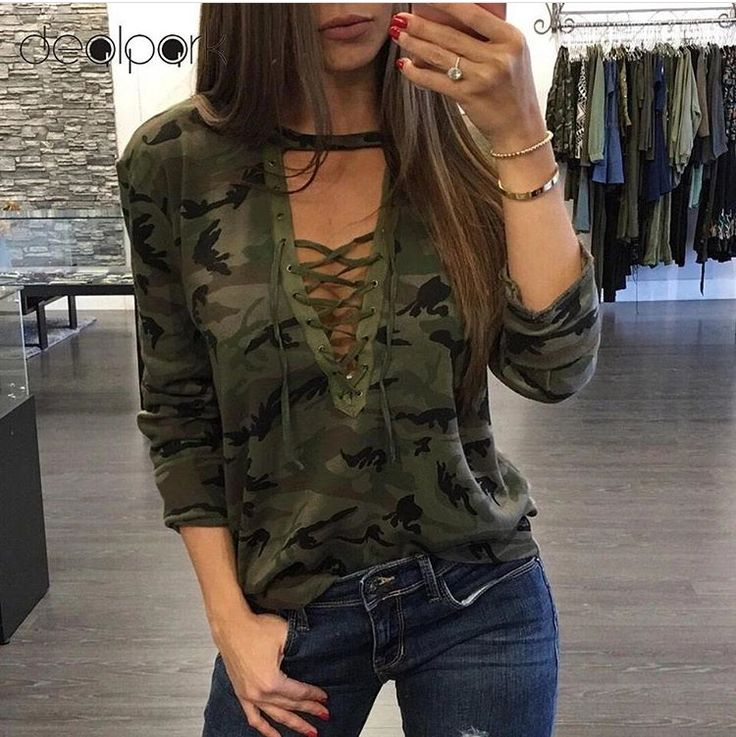 CAMOUFLAGE LONG SLEEVES T SHIRT
